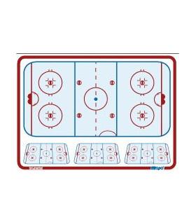Tableau coach souple 81 x 122 cm de hockey Topo