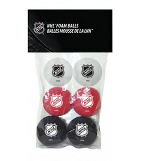 Balle mousse Logo NHL, pack de 6