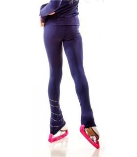 Legging JS P7R spiral+patineuse, bleu, AD