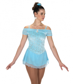 Tunique Jerry's 216 Shirred Shoulders Dress - Crystal Blue