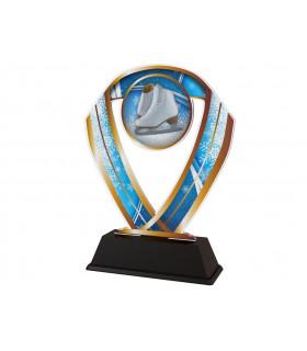 Trophée P.B. acrylic Patin blanc/Ruban ACTAS0005