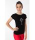 Tee shirt IM 6490, Patineuse strass, noir, Enf
