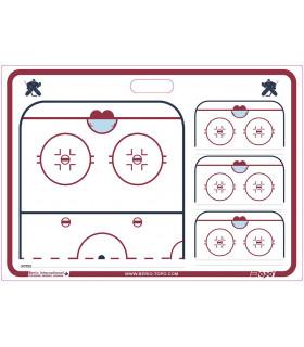 Tableau coach rigide GARDIEN 51 x 71 cm hockey TOPO