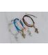 Bracelet Patin Fun en daim , Brilliance & Melrose