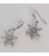Boucles d'oreilles flocon de neige: argenté, Brilliance & Melrose