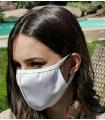 Masque sportif Sagester M13 blanc, kit de 2 pièces