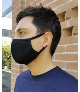 Masque sportif Sagester M13 noir, kit de 2 pièces