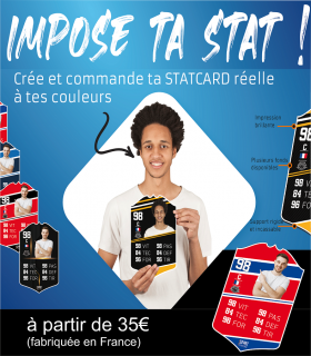 Stat card personnalisée SportCustom