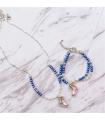 Ensemble Collier + Bracelet de patinage coloré, Brilliance & Melrose