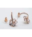 Boucles d'oreilles Fleurs bouclées , clous, Brilliance & Melrose