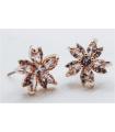 Boucles d'oreilles Fleurs, clous, Brilliance & Melrose