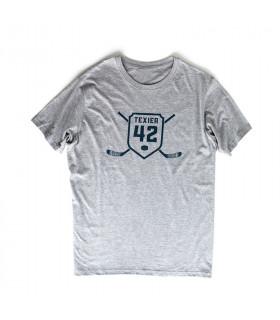 Tee-shirt crosses A.TEXIER gris adulte