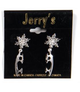 Boucles d'oreille Lames Jerry's 1289, couleur argent