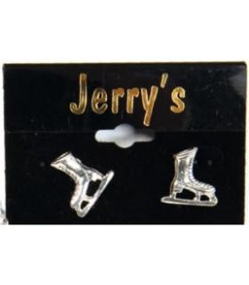 Boucles d'oreille Patins J1211, couleur argent
